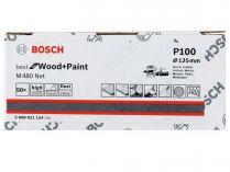 50x Brusný papír do excentrické brusky Bosch M480 - 125mm, zr.100, suchý zip