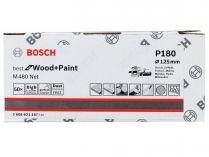 50x Brusný kotouč do excentrické brusky Bosch M480 - 125mm, zr.180, suchý zip