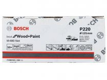 50x Brusný papír do excentrické brusky Bosch M480 - 125mm, zr.220, suchý zip