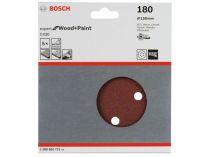 5x Brusný papír do excentrické brusky Bosch C430 - 150mm, zr.180, 6 otvorů, suchý zip
