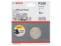 5x Brusná mřížka do excentrické brusky Bosch M480 - 115mm, zr.150, suchý zip