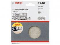 5x Brusná mřížka do excentrické brusky Bosch M480 - 115mm, zr.240, suchý zip