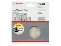5x Brusná mřížka do excentrické brusky Bosch M480 - 125mm, zr.240, suchý zip