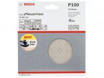 5x Brusná mřížka do excentrické brusky Bosch M480 - 150mm, zr.100, suchý zip