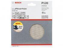 5x Brusná mřížka do excentrické brusky Bosch M480 - 150mm, zr.120, suchý zip