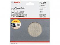 5x Brusná mřížka do excentrické brusky Bosch M480 - 150mm, zr.150, suchý zip