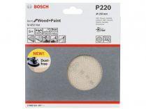 5x Brusná mřížka do excentrické brusky Bosch M480 - 150mm, zr.220, suchý zip