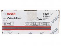 50x Brusný papír do excentrické brusky Bosch C470 - 125mm, zr.400, 8 otvorů