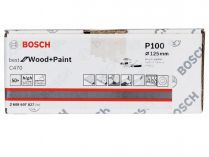 50x Brusný papír do excentrické brusky Bosch C470 - 125mm, zr.100, 8 otvorů