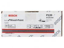 50x Brusný papír do excentrické brusky Bosch C470 - 125mm, zr.120, 8 otvorů