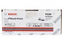 50x Brusný papír do excentrické brusky Bosch C470 - 125mm, zr.150, 8 otvorů