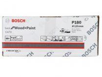 50x Brusný papír do excentrické brusky Bosch C470 - 125mm, zr.180, 8 otvorů
