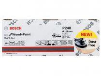 50x Brusný kotouč do excentrické brusky Bosch M480 - 150mm, zr.240, suchý zip