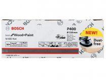 50x Brusný kotouč do excentrické brusky Bosch M480 - 150mm, zr.400, suchý zip (2608621179)