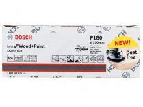 50x Brusný papír do excentrické brusky Bosch M480 - 150mm, zr.180, suchý zip