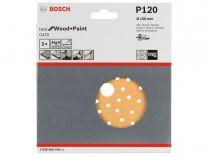 5x Brusný papír do excentrické brusky Bosch C470 - 150mm, zr.120, 56 otvorů