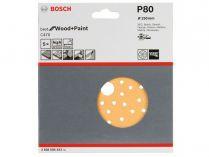 5x Brusný papír do excentrické brusky Bosch C470 - 150mm, zr.80, 56 otvorů