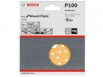 5x Brusný papír do excentrické brusky Bosch C470 - 125mm, zr.100, 40 otvorů