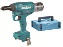Makita DRV150ZJ - 18V, 25mm, 10.000N, 2.2kg, kufr, bez aku, bezuhlíkové aku nýtovací kleště