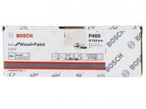 50x Brusný papír do excentrické brusky Bosch C470 - 150mm, zr.400, 6 otvorů