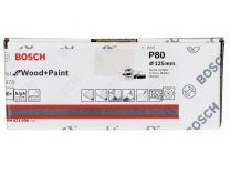 50x Brusný papír do excentrické brusky Bosch C470 - 125mm, zr.80, 40 otvorů