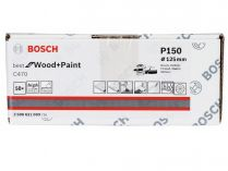 50x Brusný papír do excentrické brusky Bosch C470 - 125mm, zr.150, 40 otvorů