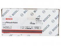 50x Brusný kotouč do excentrické brusky Bosch C470 - 150mm, zr.60, 6 otvorů