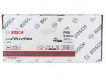 50x Brusný kotouč do excentrické brusky Bosch C470 - 150mm, zr.40, 40 otvorů