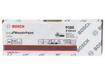 50x Brusný kotouč do excentrické brusky Bosch C470 - 150mm, zr.100, 40 otvorů