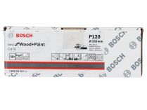 50x Brusný papír do excentrické brusky Bosch C470 - 150mm, zr.120, 40 otvorů