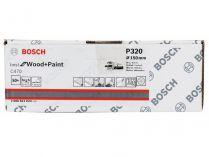 50x Brusný papír do excentrické brusky Bosch C470 - 150mm, zr.320, 40 otvorů