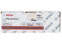 50x Brusný kotouč do excentrické brusky Bosch C470 - 150mm, zr.80, 6 otvorů