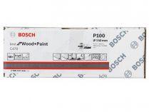 50x Brusný kotouč do excentrické brusky Bosch C470 - 150mm, zr.100, 6 otvorů