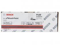 50x Brusný papír do excentrické brusky Bosch C470 - 150mm, zr.120, 6 otvorů