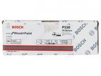 50x Brusný papír do excentrické brusky Bosch C470 - 150mm, zr.150, 6 otvorů