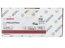50x Brusný papír do excentrické brusky Bosch C470 - 150mm, zr.40, 6 otvorů