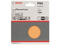 10x Brusný papír Bosch Best for Wood and Paint C470 115mm, hr.60