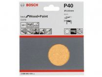 10x Brusný papír Bosch Best for Wood and Paint C470 115mm, hr.40