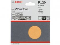10x Brusný papír Bosch Best for Wood and Paint C470 115mm, hr.120