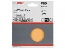 10x Brusný papír Bosch Best for Wood and Paint C470 125mm, hr.80