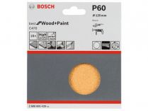 10x Brusný papír Bosch Best for Wood and Paint C470 125mm, hr.60