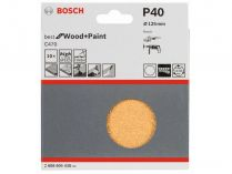 10x Brusný papír Bosch Best for Wood and Paint C470 125mm, hr.40