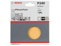 10x Brusný papír Bosch Best for Wood and Paint C470 125mm, hr.240