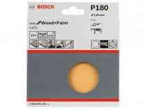 10x Brusný papír Bosch Best for Wood and Paint C470 125mm, hr.180