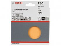 10x Brusný papír Bosch Best for Wood and Paint C470 115mm, hr.80