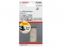 10x Brusný papír Bosch Best for Wood and Paint M480 70x125mm, hr.240