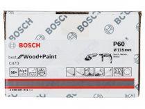 50x Brusný papír Bosch Best for Wood and Paint C470 115mm, hr.60