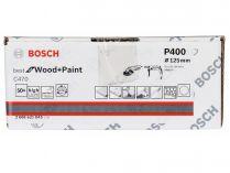 50x Brusný papír Bosch Best for Wood and Paint C470 125mm, hr.400