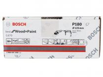 50x Brusný papír Bosch Best for Wood and Paint C470 125mm, hr.180