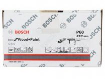 50x Brusný papír Bosch Best for Wood and Paint C470 125mm, hr.60